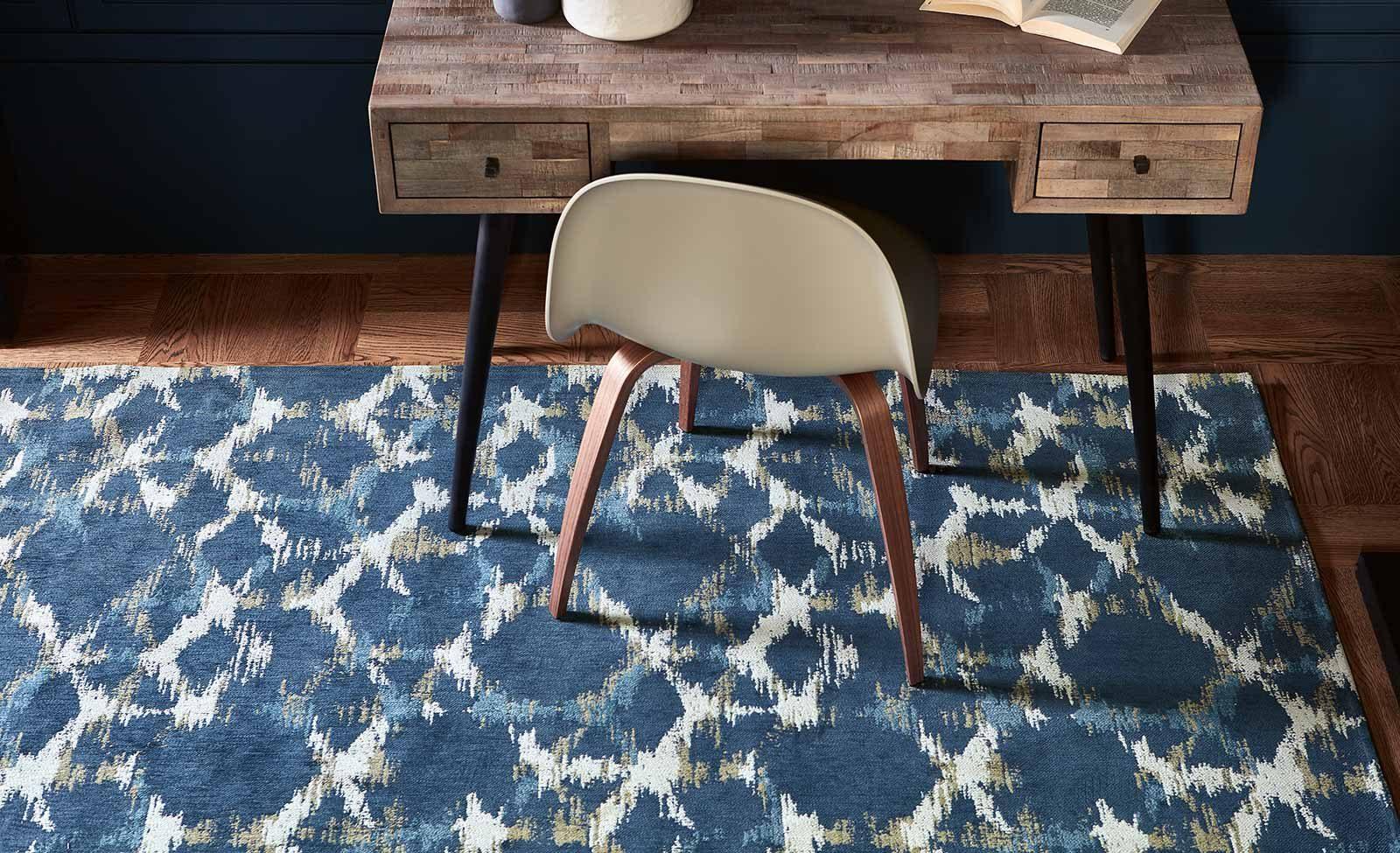 Louis De Poortere alfombras Villa Nova LX 8750 Sudare Indigo interior