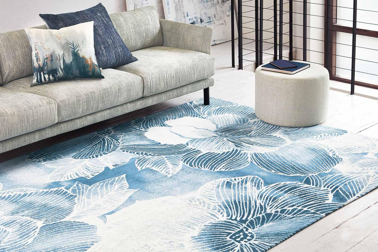 Louis De Poortere alfombras Villa Nova LX 8756 Akina Indigo interior