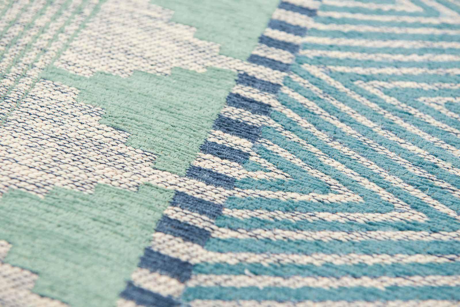 Louis De Poortere alfombras Villa Nova LX 8766 Tobi Teal zoom 4