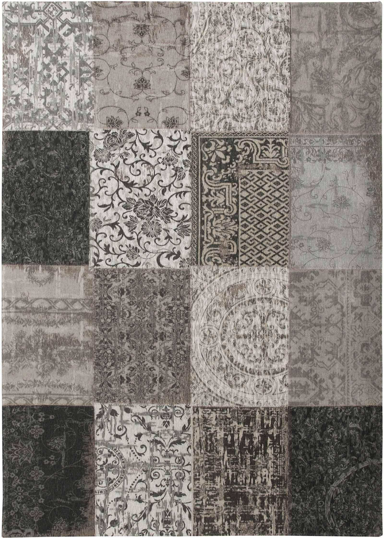 alfombras Louis De Poortere LX8101 Vintage Black White