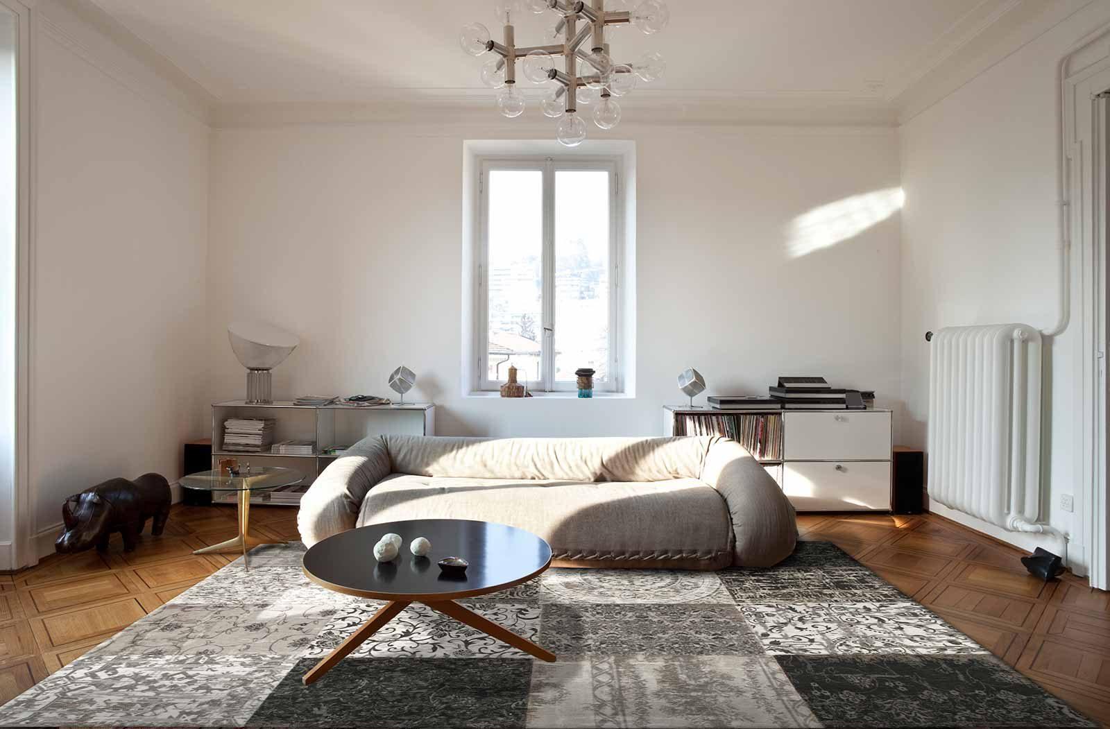 alfombras Louis De Poortere LX8101 Vintage Black White interior