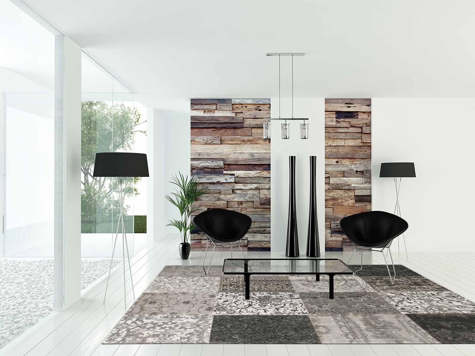 alfombras Louis De Poortere LX8101 Vintage Black White interior 2