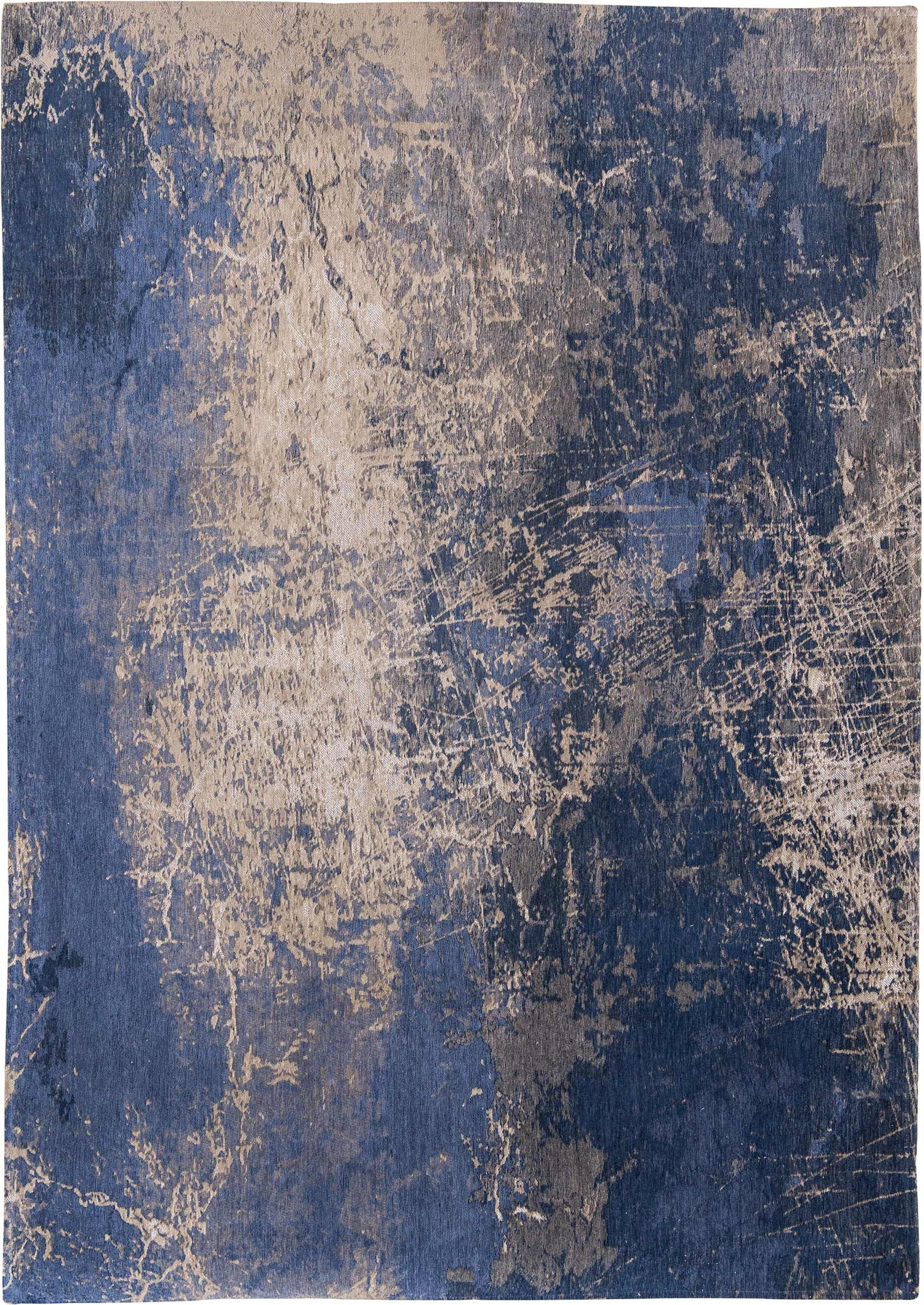 alfombras Louis De Poortere LX8629 Mad Men Cracks Abyss Blue