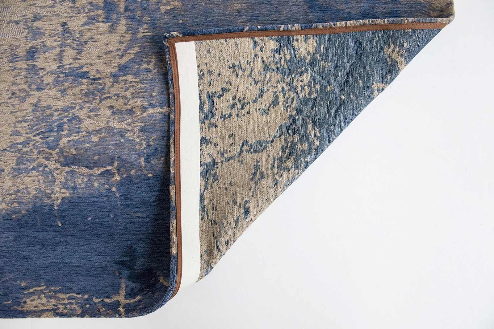 alfombras Louis De Poortere LX8629 Mad Men Cracks Abyss Blue back