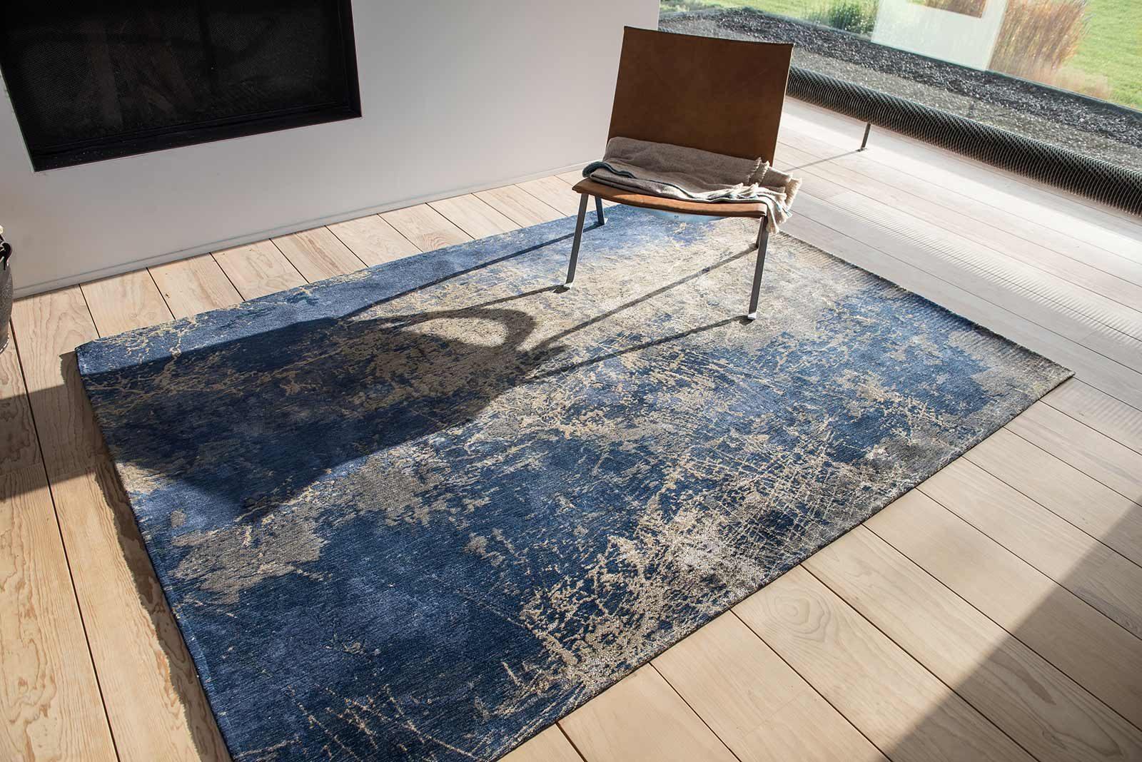 alfombras Louis De Poortere LX8629 Mad Men Cracks Abyss Blue interior 2