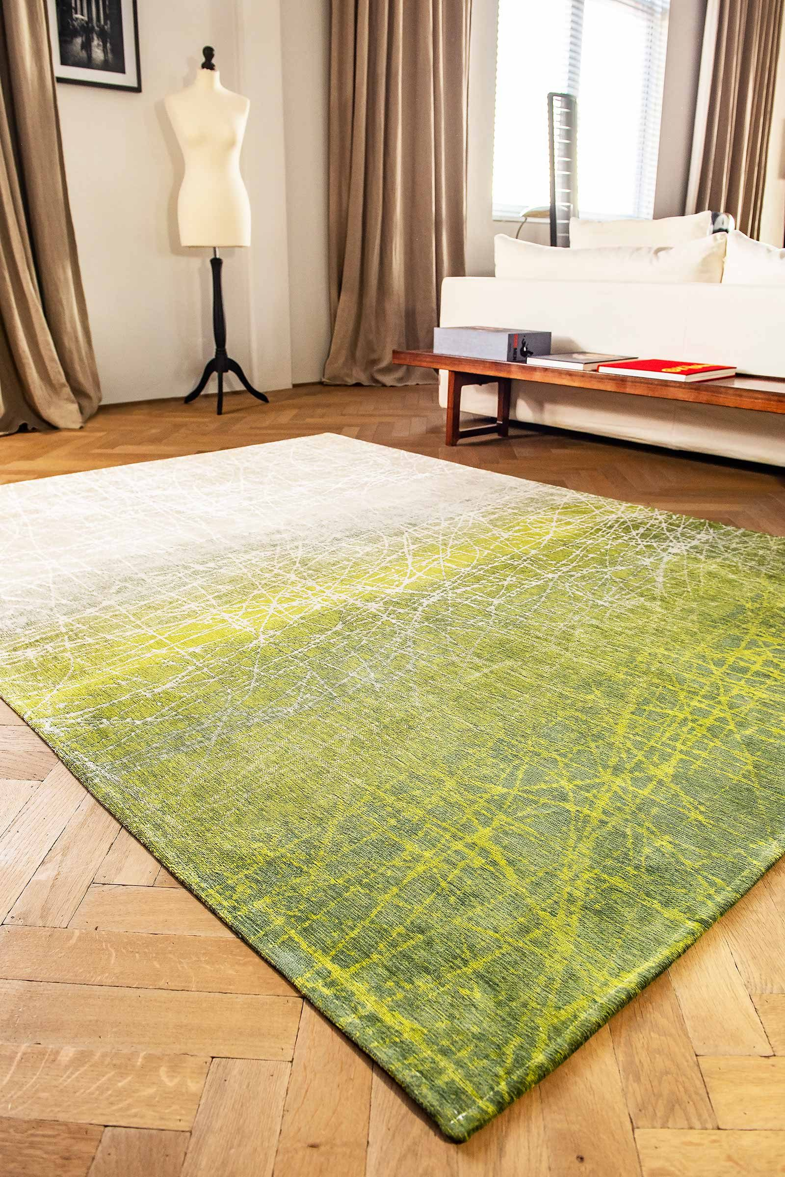 alfombras Louis De Poortere LX 8882 Mad Men Fahrenheit Central Park Green interior