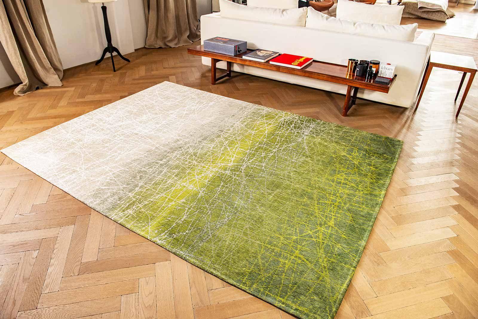 alfombras Louis De Poortere LX 8882 Mad Men Fahrenheit Central Park Green interior 2