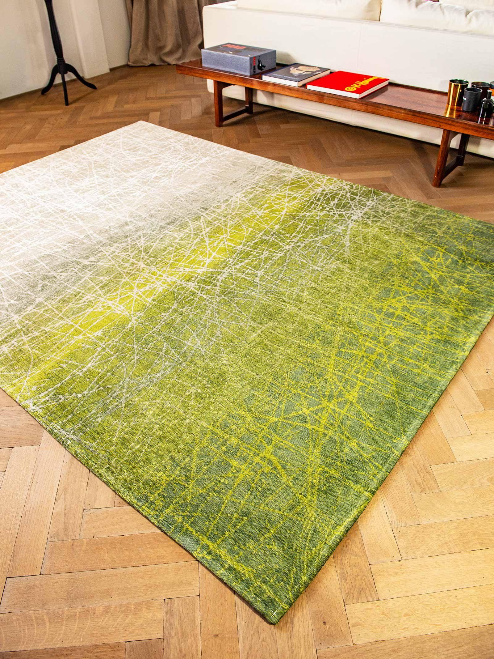 alfombras Louis De Poortere LX 8882 Mad Men Fahrenheit Central Park Green interior 3