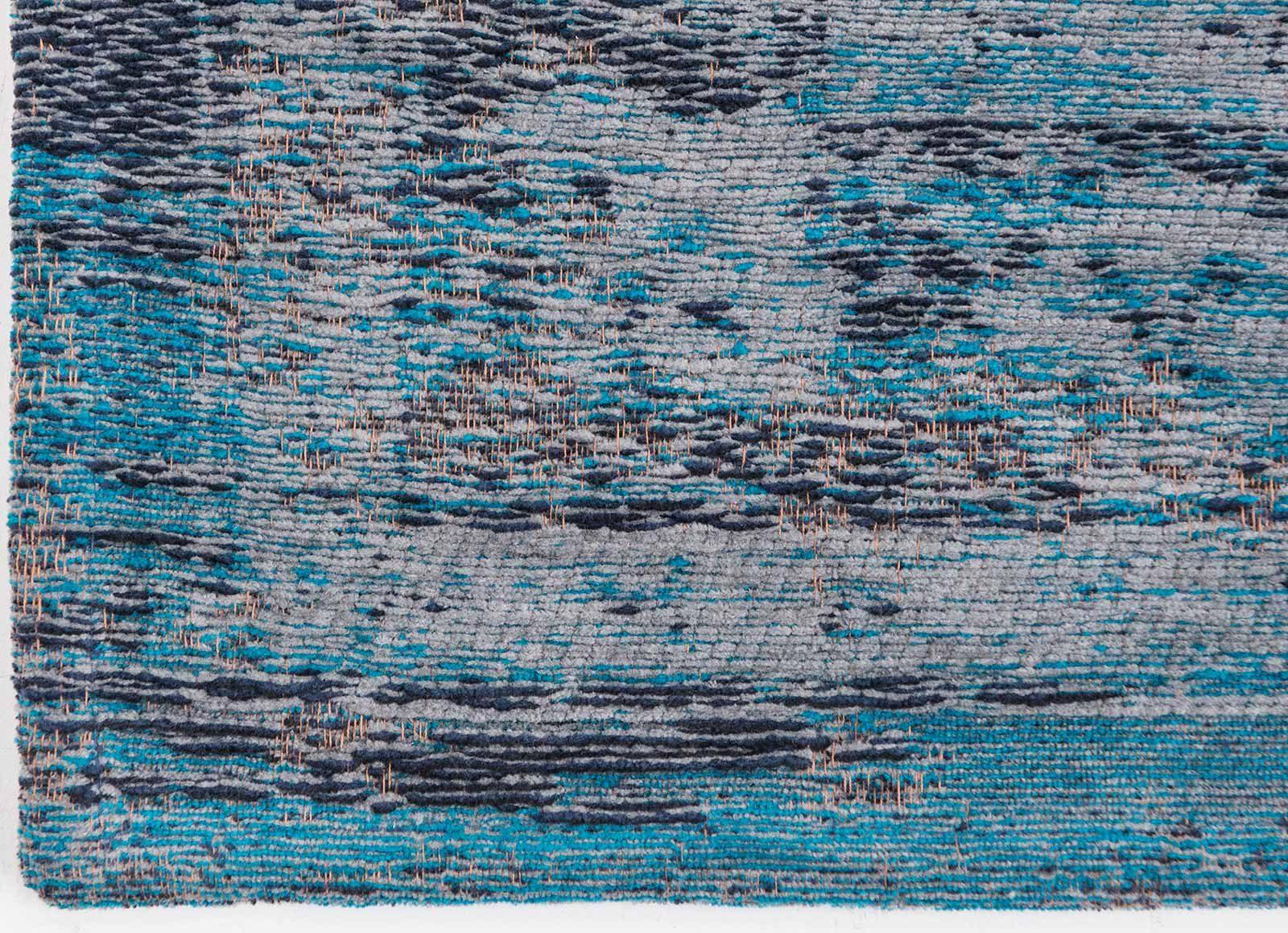 alfombras Louis De Poortere LX8255 Fading World Medaillon Grey Turquoise corner