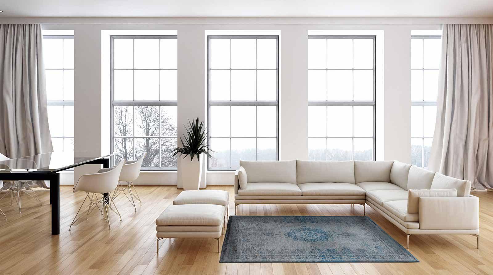alfombras Louis De Poortere LX8255 Fading World Medaillon Grey Turquoise interior