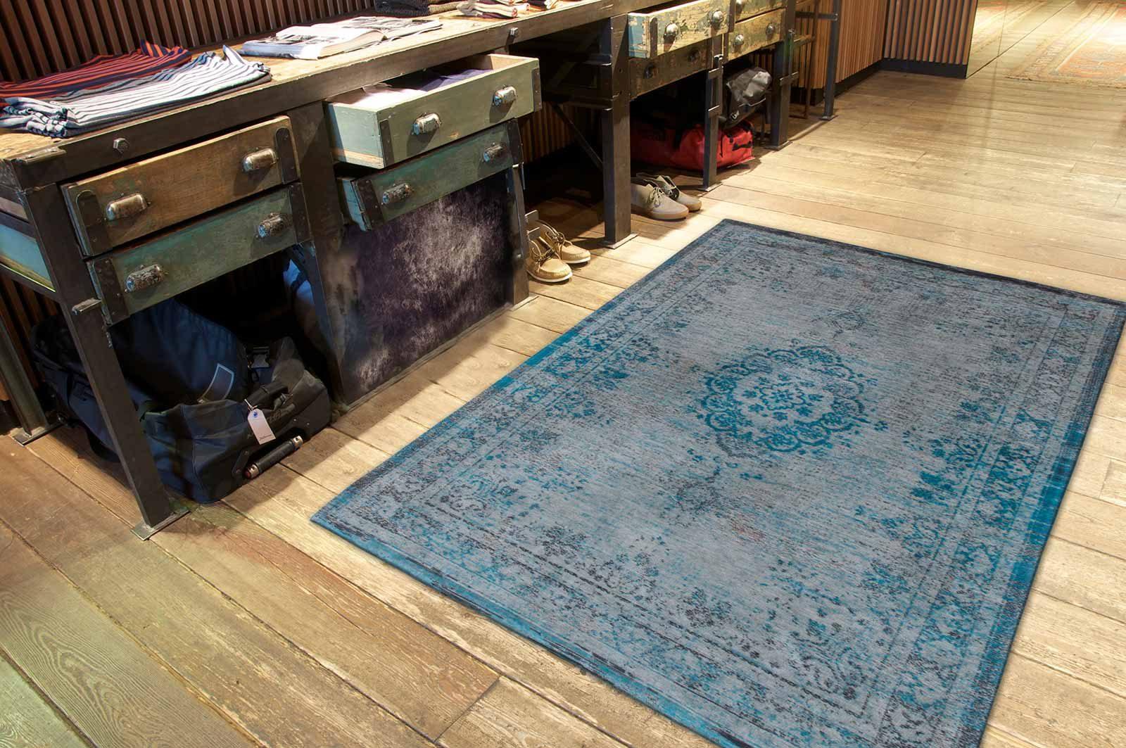 alfombras Louis De Poortere LX8255 Fading World Medaillon Grey Turquoise interior 2