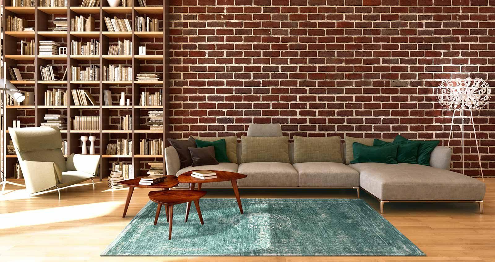 alfombras Louis De Poortere LX8258 Fading World Medaillon Jade interior