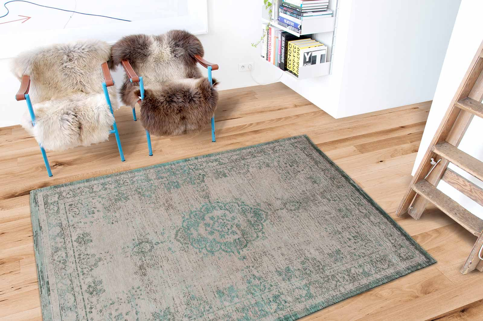 alfombras Louis De Poortere LX8259 Fading World Medaillon Jade Oyster interior