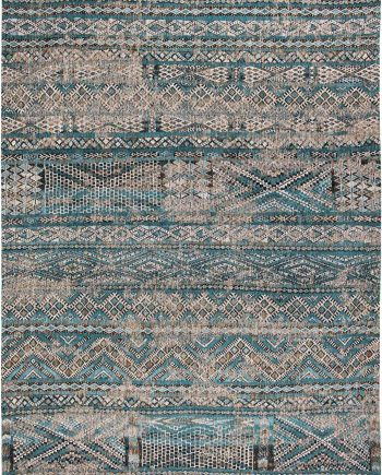 Louis De Poortere alfombra LX 9110 Antiquarian Kilim Zemmuri Blue