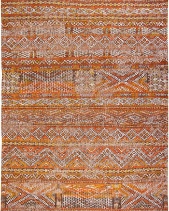 Louis De Poortere alfombra LX 9111 Antiquarian Kilim Riad Orange